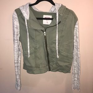 Mossimo army green and grey jacket.